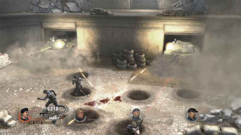 Screen Shot Of The Expendables 2 Videogame (2012) Full PC Game Free Download At Downloadingzoo.Com