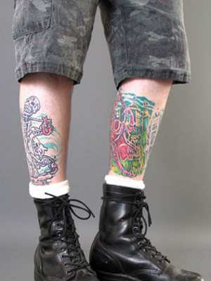 tattoos for men leg