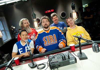 Comic Book Men Season 1 Cast Photo - Ming Chen, Bryan Johnson, Kevin Smith, Michael Zapcic & Walt Flanagan.