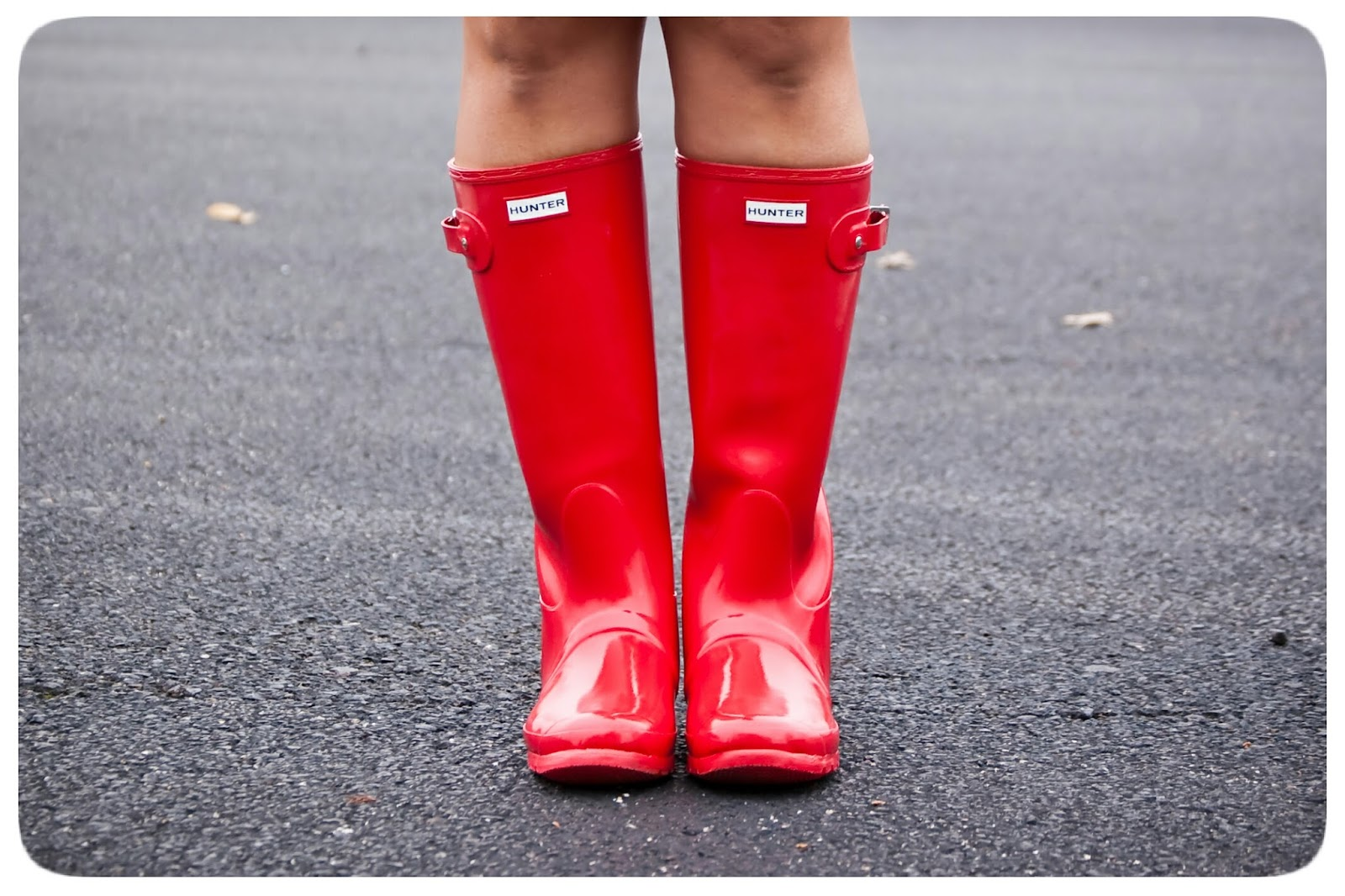 Red Hunter Boots!  Rainy Day Outfit - Erica B.'s - DIY Style!
