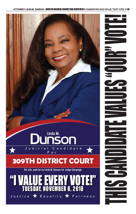 PAGE 5 - HOUSTON BUSINESS CONNECTIONS NEWSPAPER© RUNOFF ELECTION - PART 1 of 3