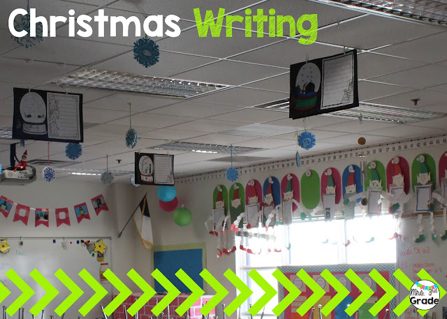 You can hang writing from the ceiling as a way to display work without having to use your wall space!