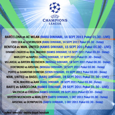 jadwal liga champions