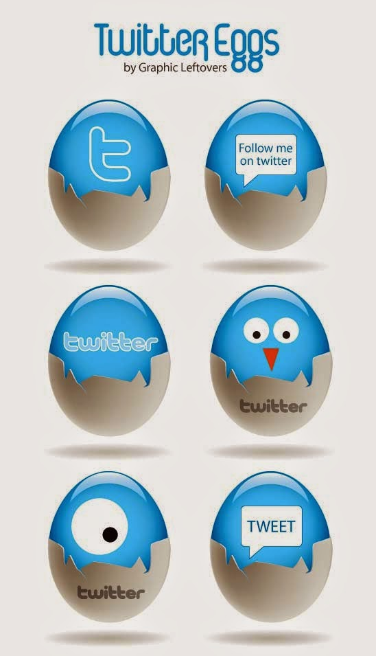 Twitter Eggs Icons Set