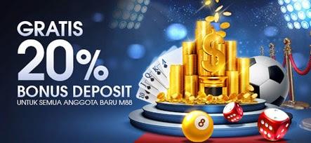 Daftar M88 Dapatkan 20% Bonus Deposit