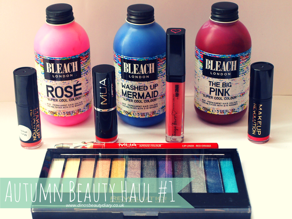 Dino's Beauty Diary - Autumn Beauty Haul #1, Bleach London, Makeup Revolution, Tanya Burr, Makeup Academy