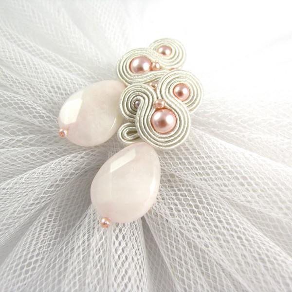 Sutasz ślubny ivory z perłami