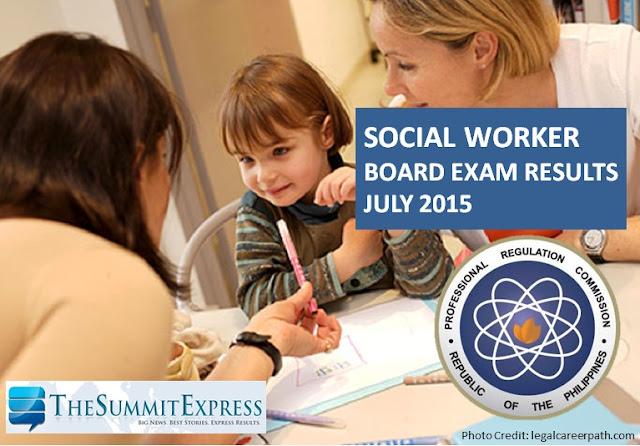 social worker board exam passers 2015