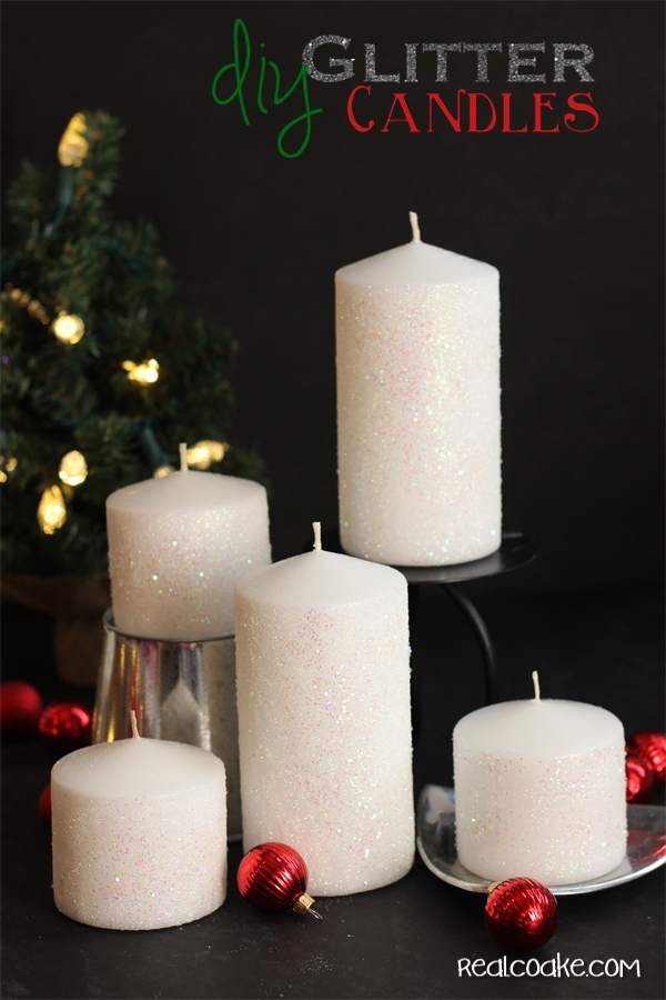 Http Www Realcoake Com 2013 11 How To Make A Glitter Candle Diy Home Decor Html