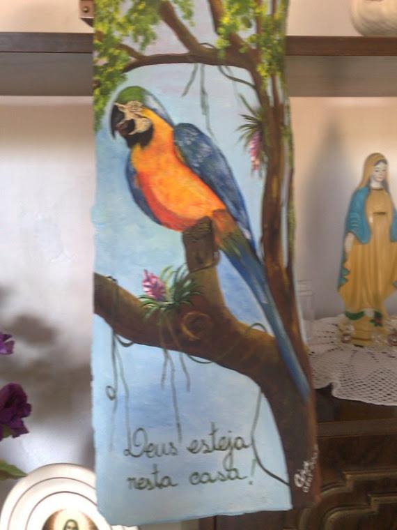 Pássaro, Pintura Acrílica sobre telha