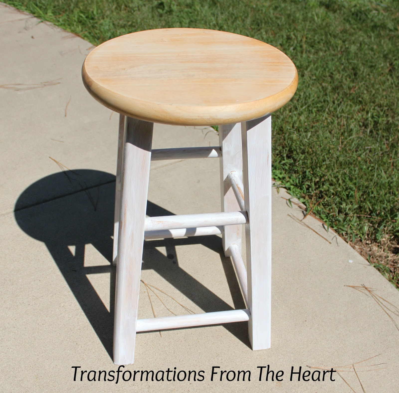 Transformations From The Heart: DIY Industrial~look Painted Wood Stool. Full resolution‎  picture, nominally Width 1600 Height 1576 pixels, picture with #936B38.