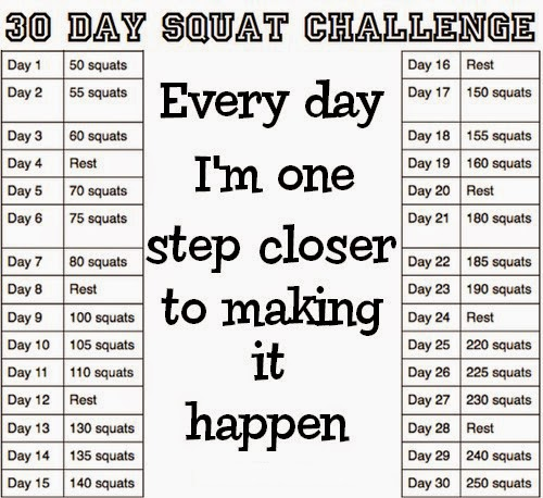 Rare image with printable 30 day squat challenge