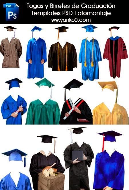Togas, Birretes, Graduación, Fotomontajes, PSD