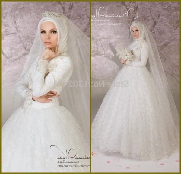 foto model gaun pengantin muslimah