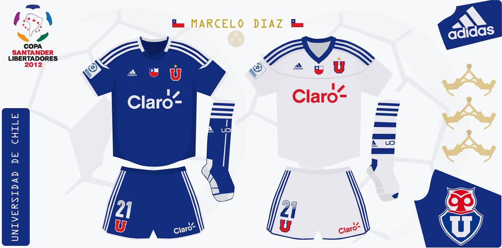 Design Futbol Kits: Universidad de Chile 2012 (Libertadores)