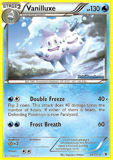 Vanilluxe Pokemon Card Noble Victories Set