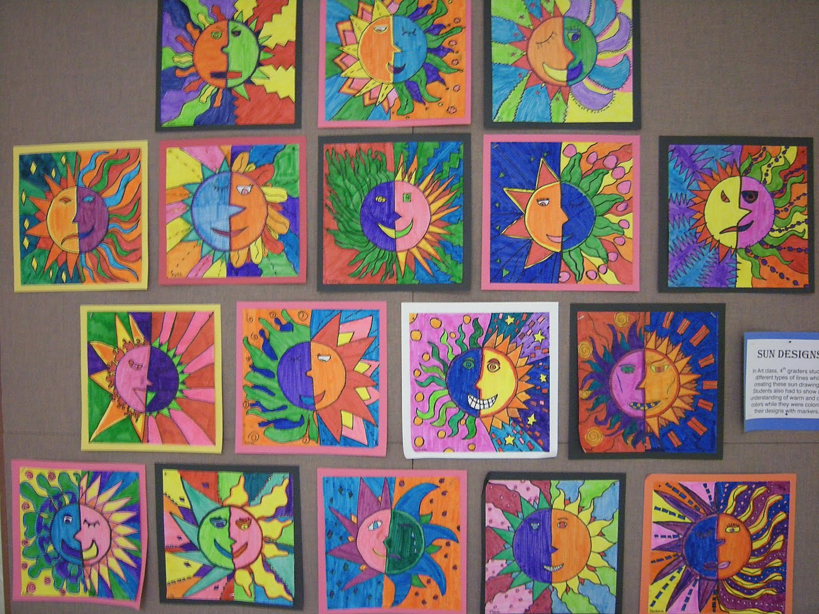 Different Types Of Lines In Art Drawing : Artolazzi warm cool suns