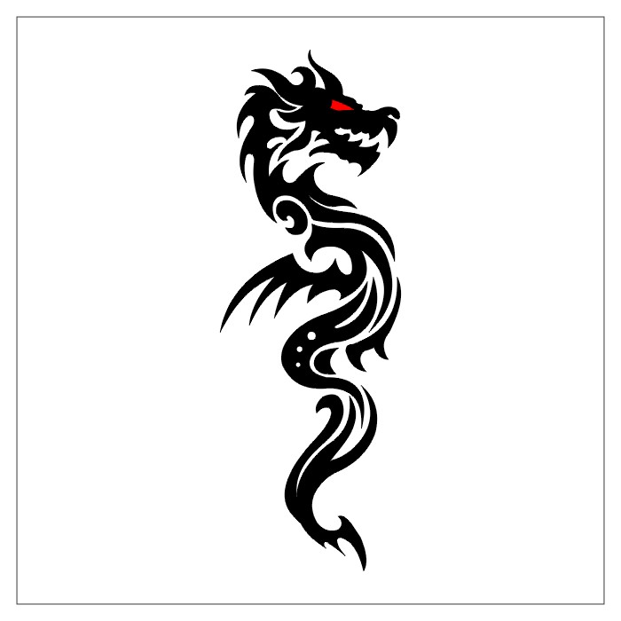 tattoos dragon tattoo stencils 3. Black Bedroom Furniture Sets. Home Design Ideas