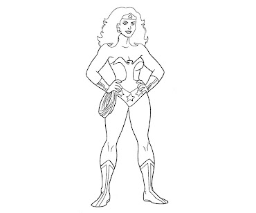 #10 Wonder Woman Coloring Page