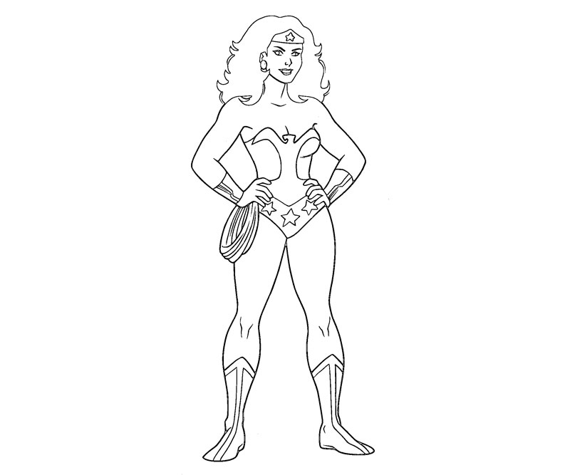 Printable Wonder Woman 4 Coloring Page title=