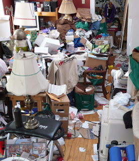 Hoarders garbage living room