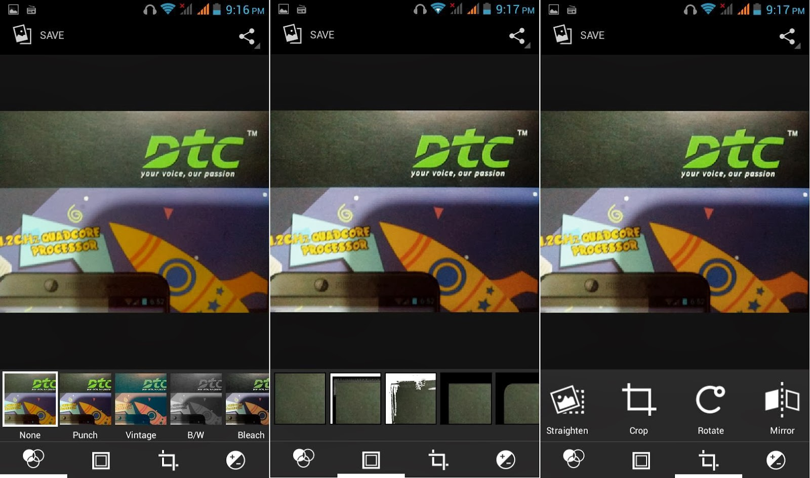 DTC Mobile GT15 Astroid Fiesta Photo Editor