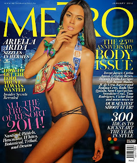 Magazine Photoshoot : Ariela Arida Photoshot For Metro Magazine January 2014 Issue