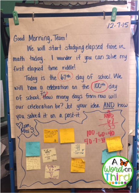 A Word On Third: Math in Morning Meeting