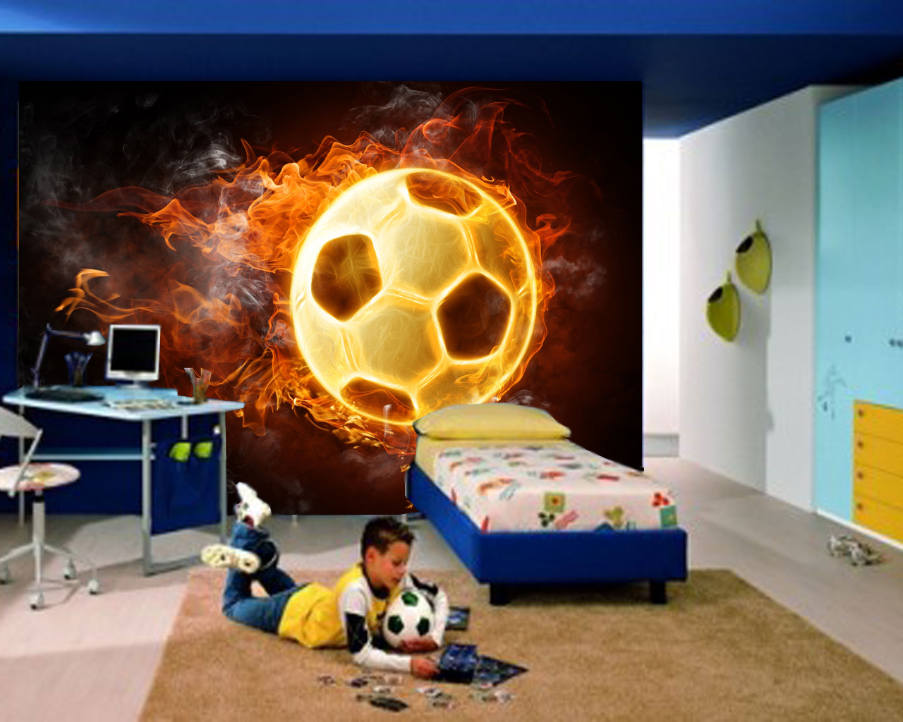 Wallpaper kamar anak-bola ~ jual|wallpaper dinding