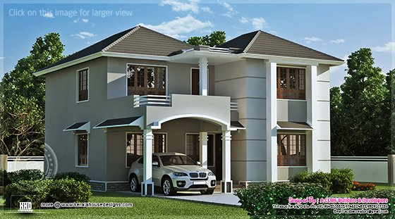 1962 Square Feet Home Exterior Home Kerala Plans