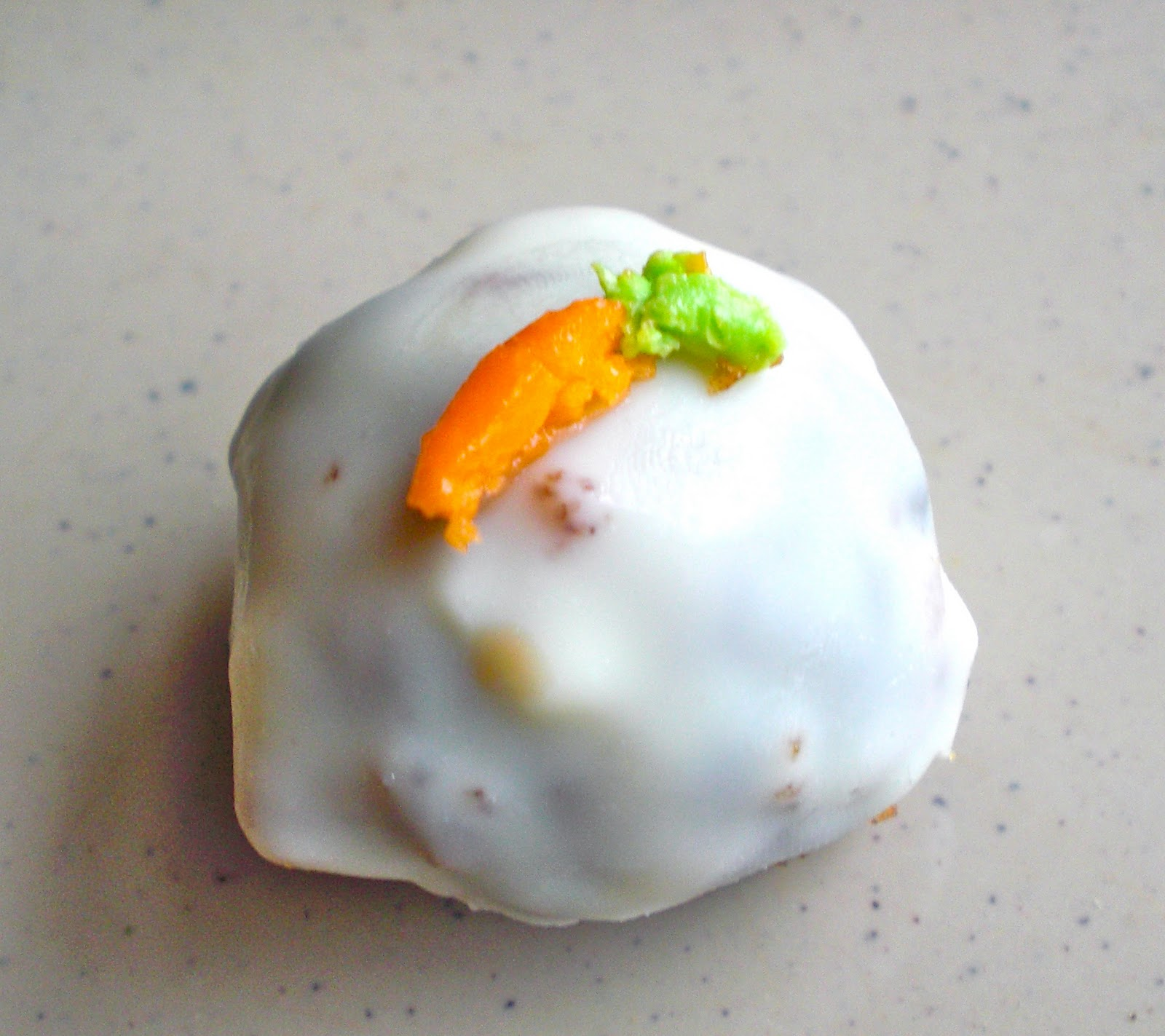 snackology: Carrot Cake Truffles with Cream Cheese Icing Center