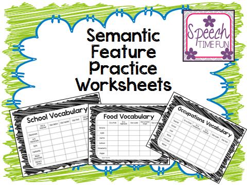 speech time fun semantic feature practice worksheets. Black Bedroom Furniture Sets. Home Design Ideas