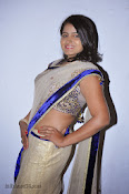 Actress Tanusha Photos in Saree at Present Love Audio-thumbnail-11