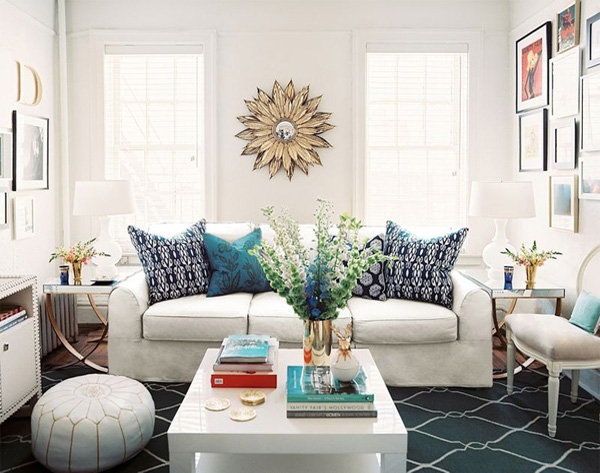 Decorating With Pillows Awesome Of White Living Room Rug Picture
