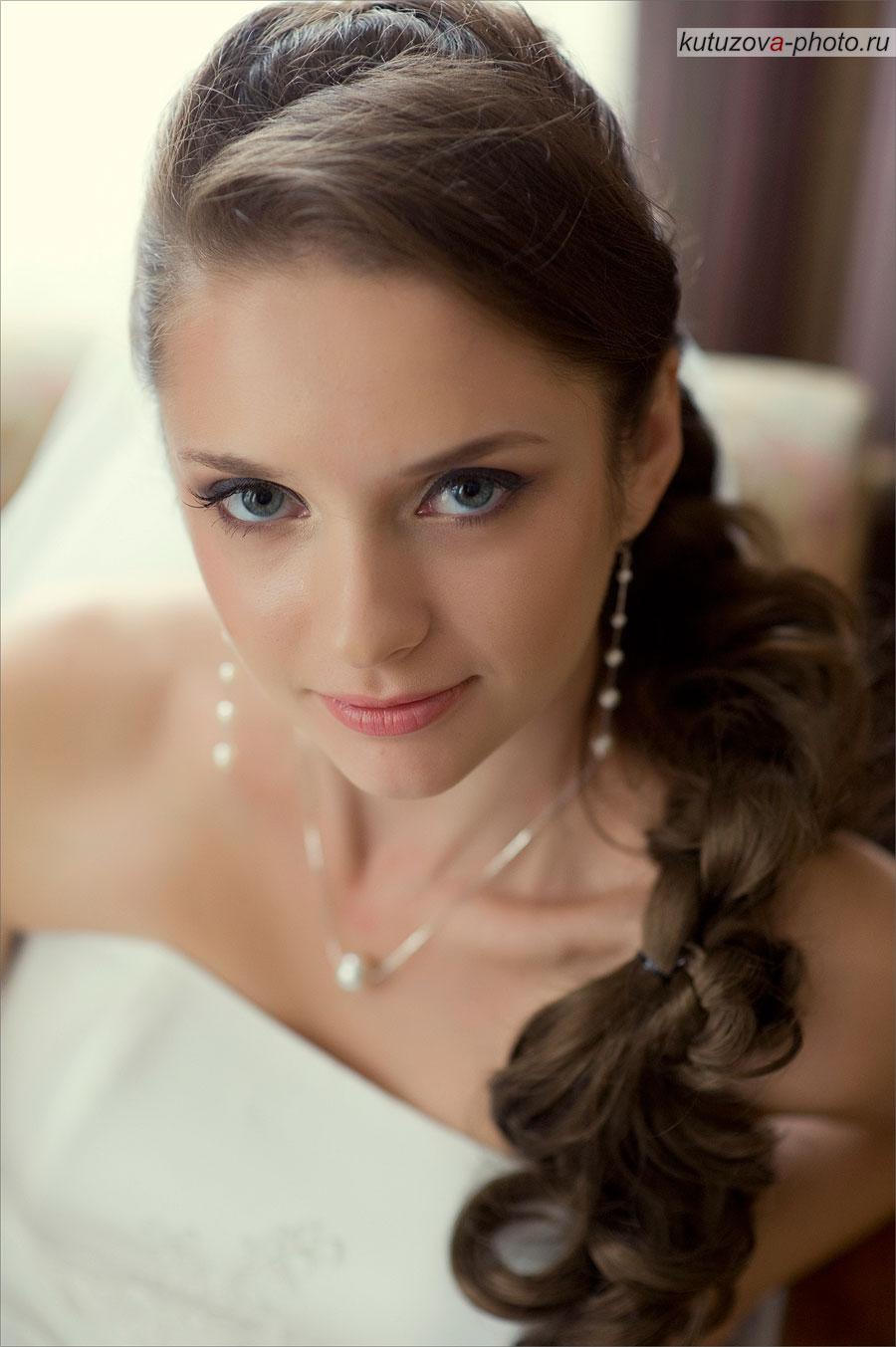 Свадебные макияж для голубых глаз фото
