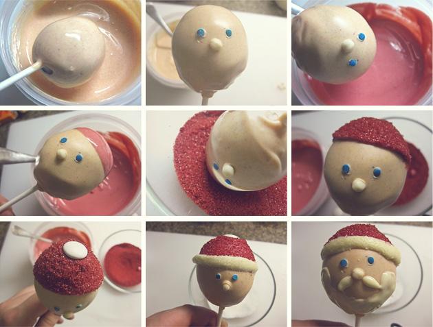 Cakepops Papa Noel - paso a paso