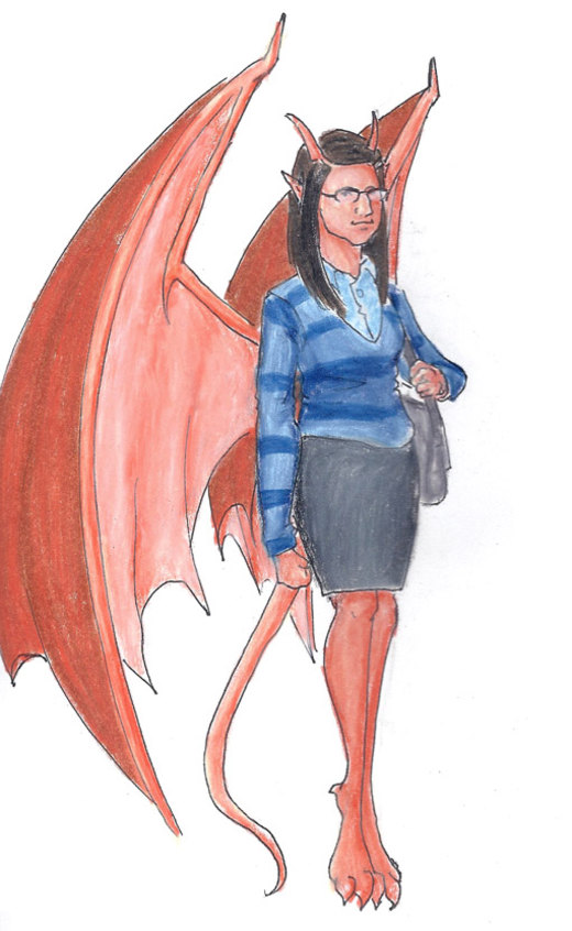 Amy Farrah Gargoyle por Nebulan