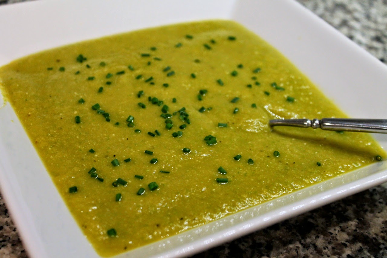 Asparagus and sweet potato soup
