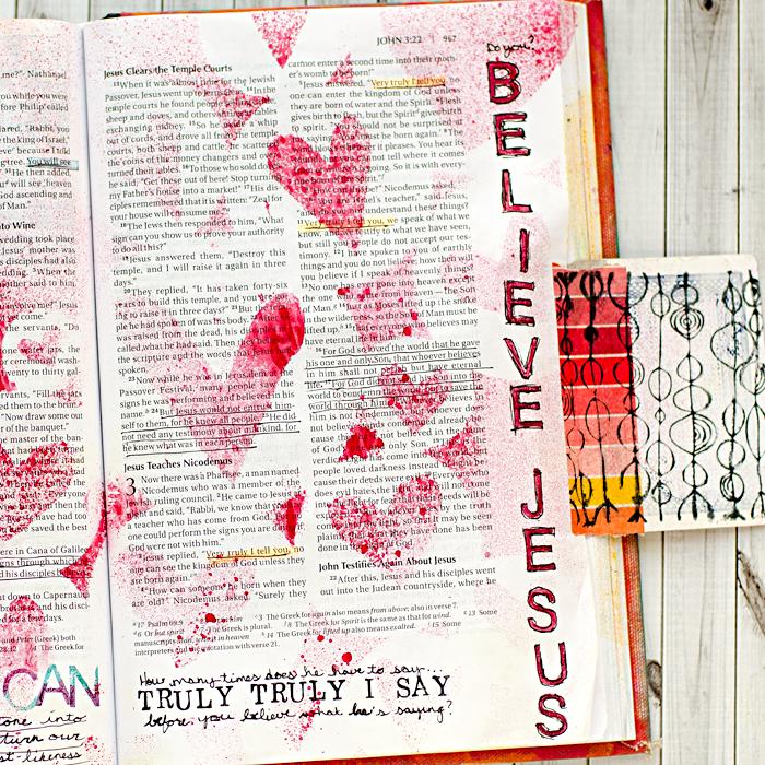 Art Worship Art Journaling Bible | John 3 | She Reads Truth | Illustrated Faith
