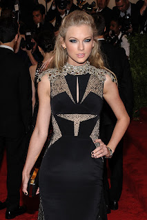 Taylor Swift attends the 2013 Costume Institute Gala for the PUNK: Chaos to Couture in New York City.