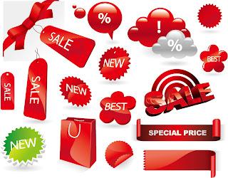 売り出しセール ラベル exquisite decorative elements vector sales イラスト素材