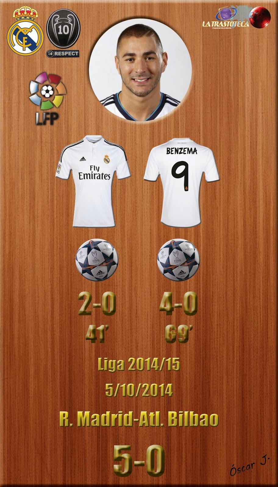 Benzema - Doblete - Real Madrid 5-0 Atletic Bilbao - Liga 2014/15 - (5/10/2014)