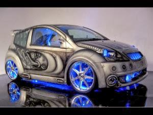 سيارة مع اضواء