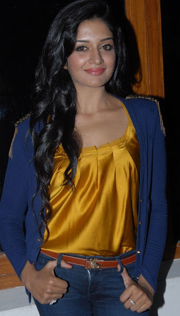 Glamorous vimala raman in Shining yellow Silk top and jeans
