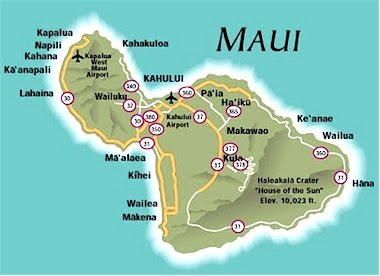 Map of maui free printable maps map of maui thecheapjerseys Image collections