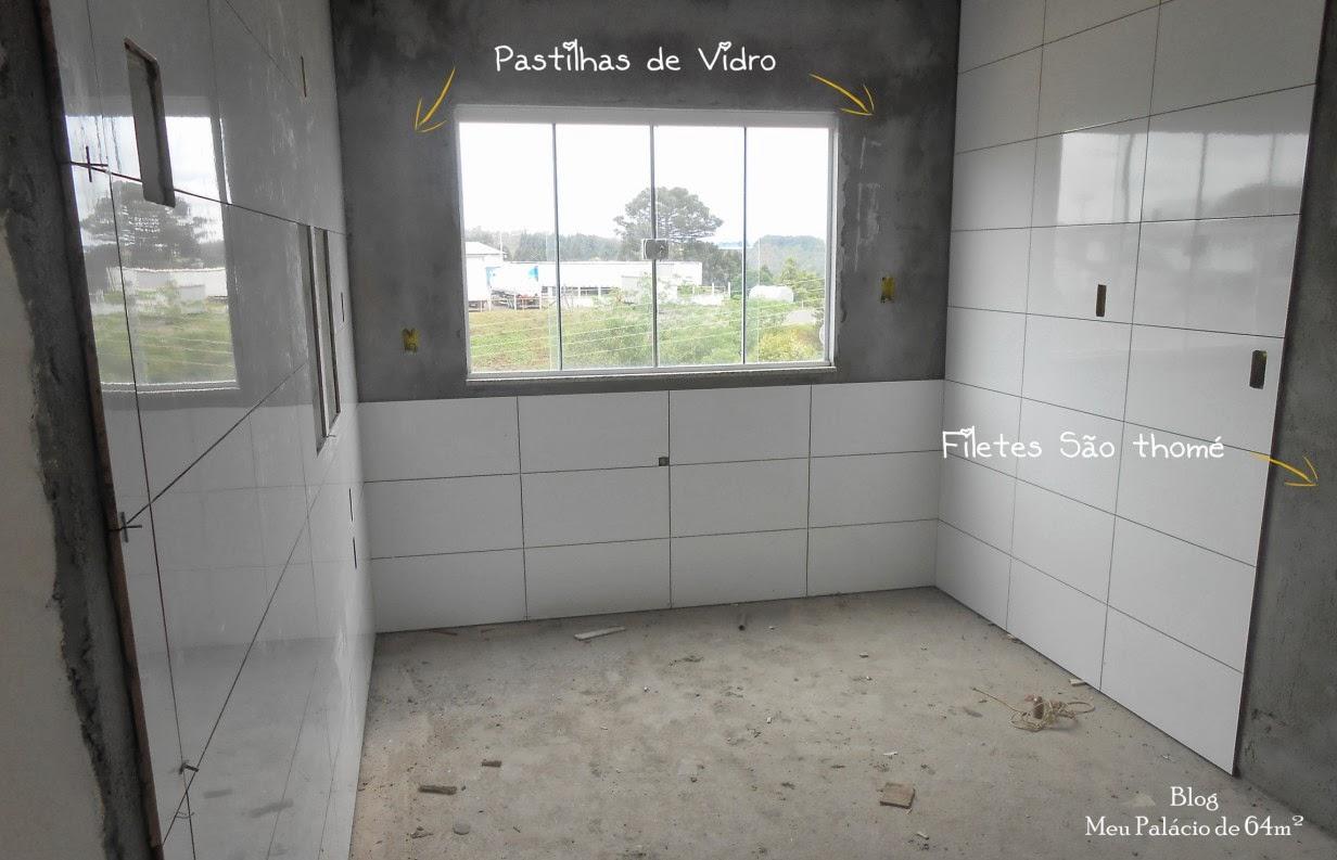 #747E4D Meu Palácio de 64m²: Pastilhas de vidro para a cozinha (Qual  42 Janelas De Vidro Cozinha