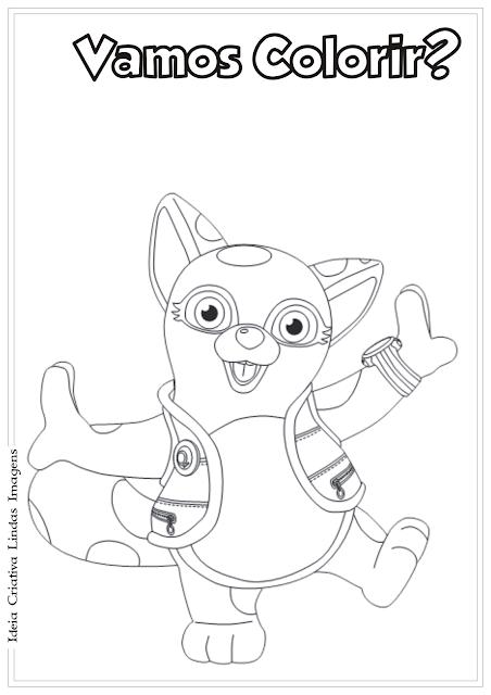 Agente Especial Urso Dotty desenho pra colorir