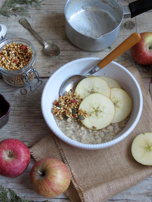 porridge de maçã