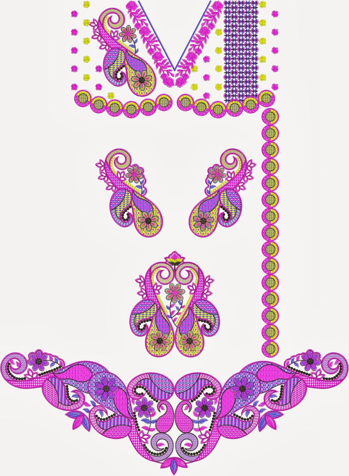 New Arrival Embroidery Kurti Dresses Designs ~ Embdesigntube