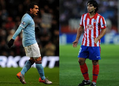 Carlos Tevez and Sergio Aguero Doubtful Community Shield